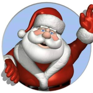 A picture of Santa Claus/Father Christmas